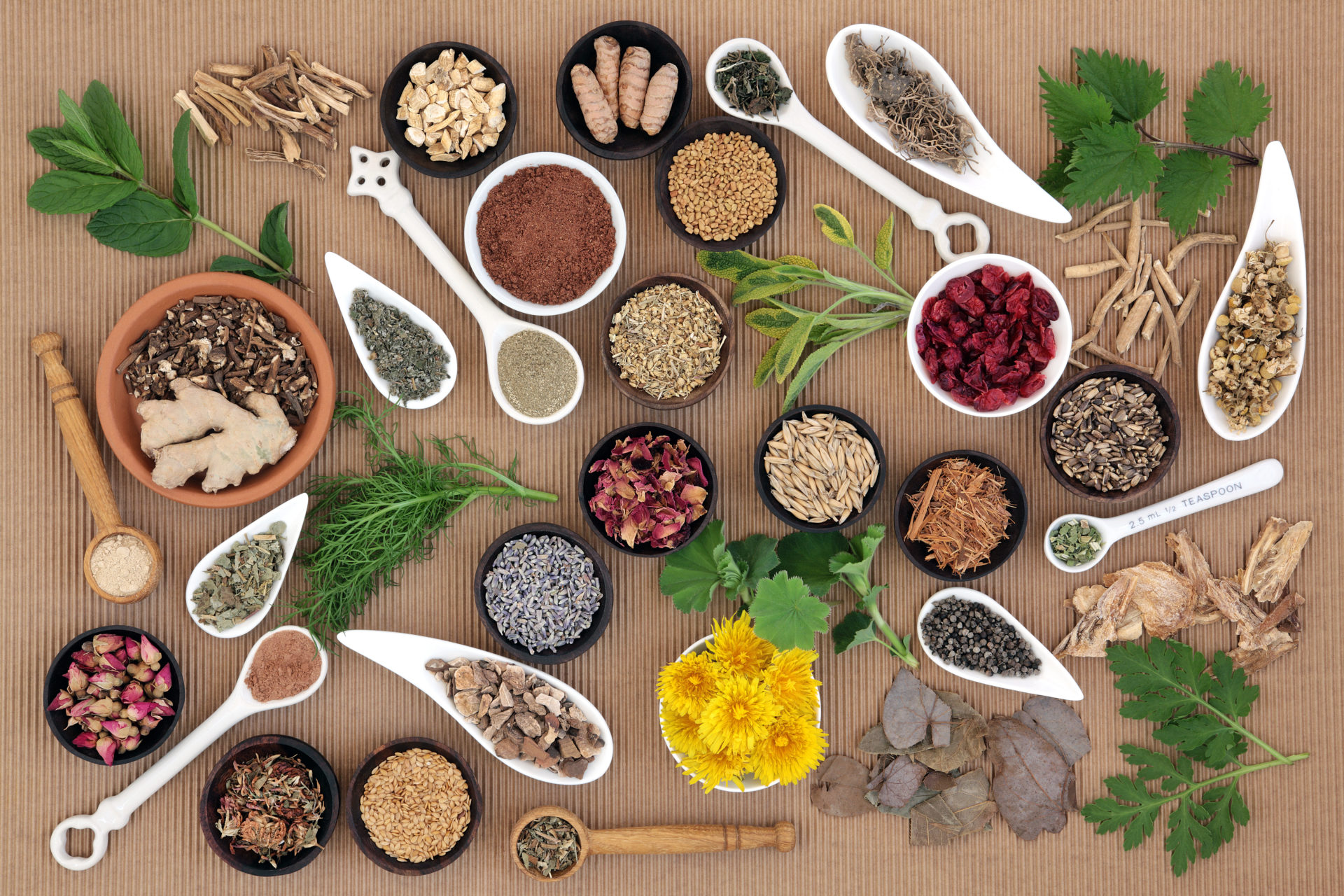 Natural food and herbs that can help you tackle symptoms of the Menopause.